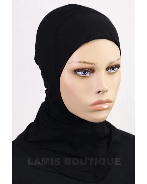 Sous hijab cagoule Ninja noir