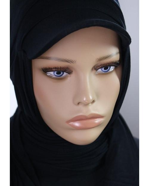 Hijab casquette à enfiler noir