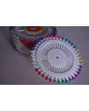 Épingle en panel pour hijab 40 pièces colorées