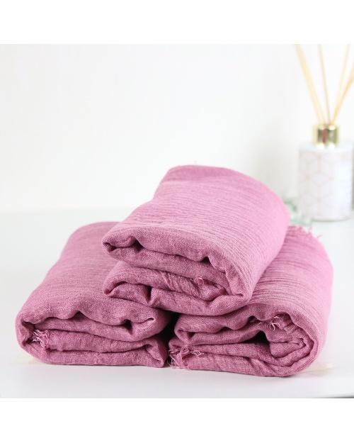 Maxi hijab froissé rose dragée