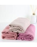 Maxi hijab froissé rose pâle