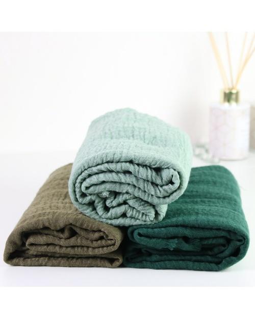 Maxi hijab froissé vert foncé