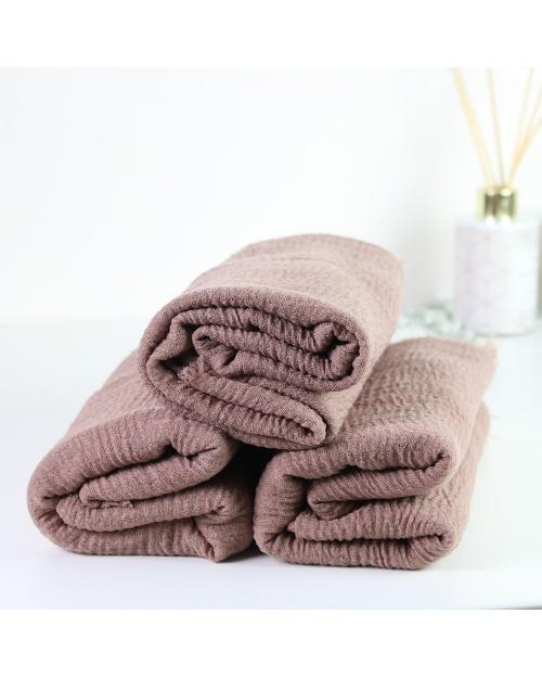 Maxi hijab froissé taupe rosé