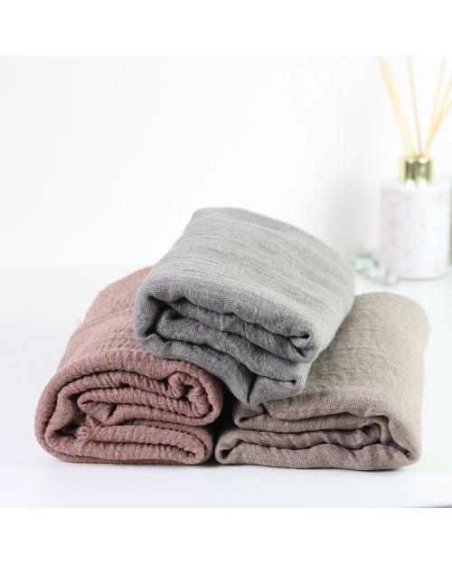 Maxi hijab froissé taupe grisé
