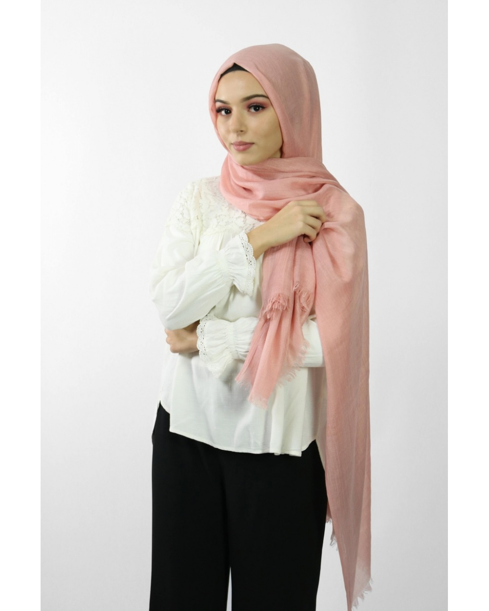Maxi Hijab Coton PREMIUM rose