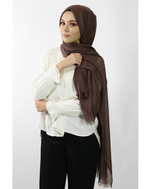 Maxi Hijab Coton PREMIUM marron