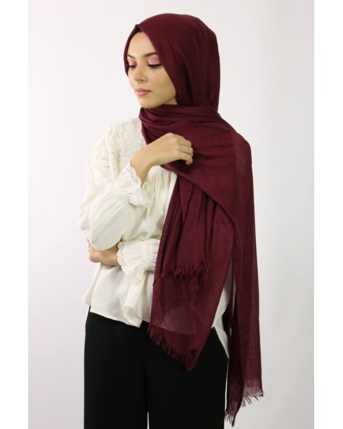 Maxi Hijab Coton PREMIUM grenat
