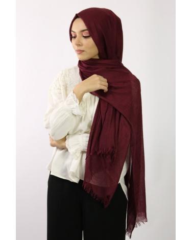 Maxi Hijab Coton PREMIUM grenat ★