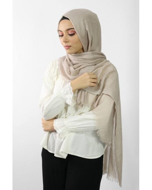 Maxi Hijab Coton PREMIUM beige ★