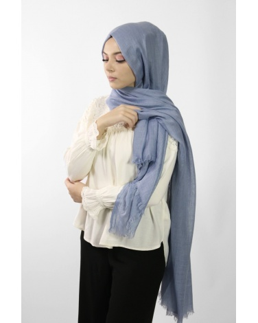 Maxi Hijab Coton PREMIUM bleu jean ★