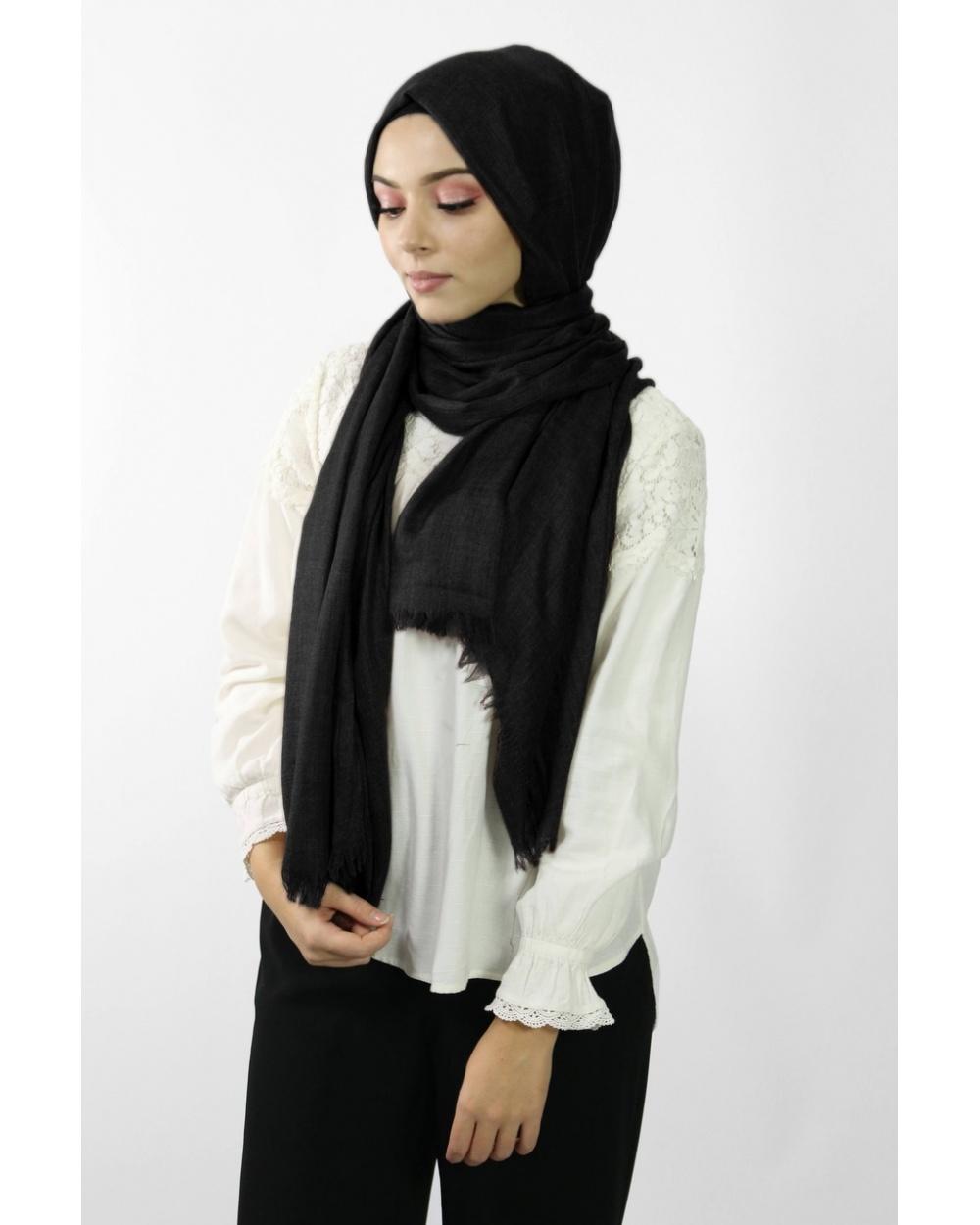 Maxi Hijab Coton PREMIUM noir★