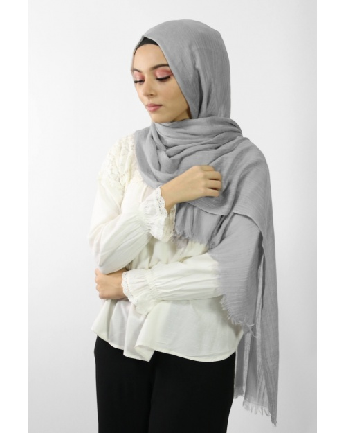 Maxi Hijab Coton PREMIUM gris clair★