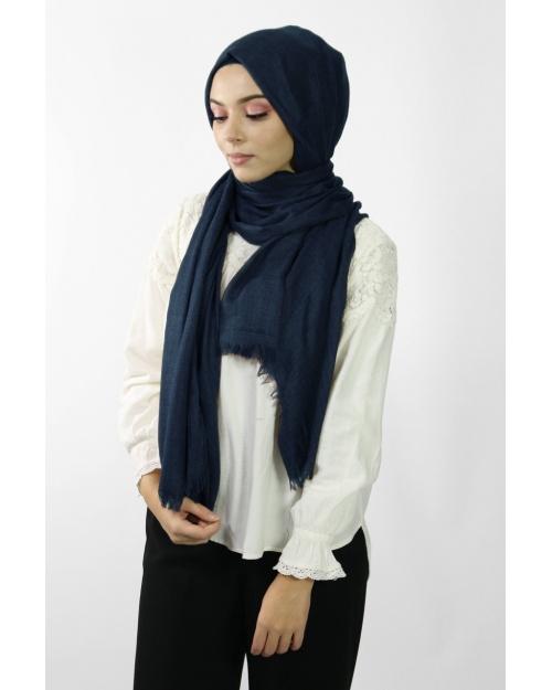 Maxi Hijab Coton PREMIUM bleu marine★
