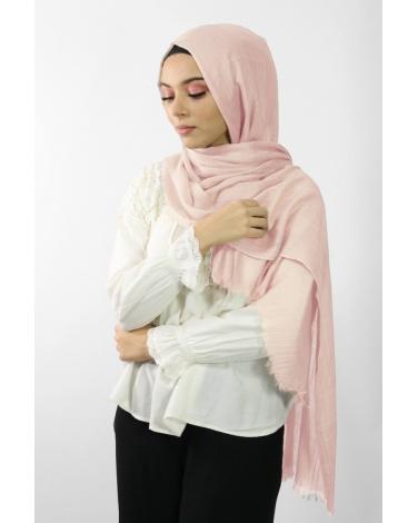 Maxi Hijab Coton PREMIUM rose clair ★
