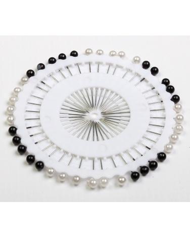 Epingle en panel pour hijab 40 piéces noir et blanc