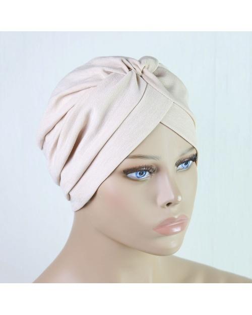 Turban à enfiler pour l'hiver 2 beige