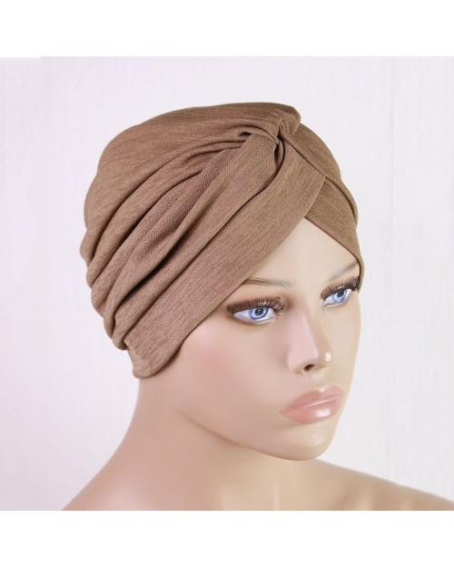 Turban à enfiler pour l'hiver 2 brun