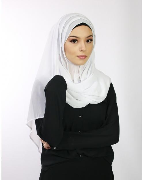 Hijab à enfiler blanc