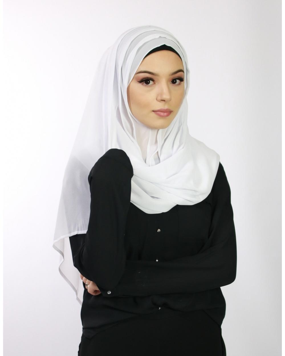 Hijab à enfiler bleu