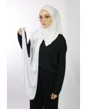 Hijab à enfiler avec ouvertures pour lunettes Blanc