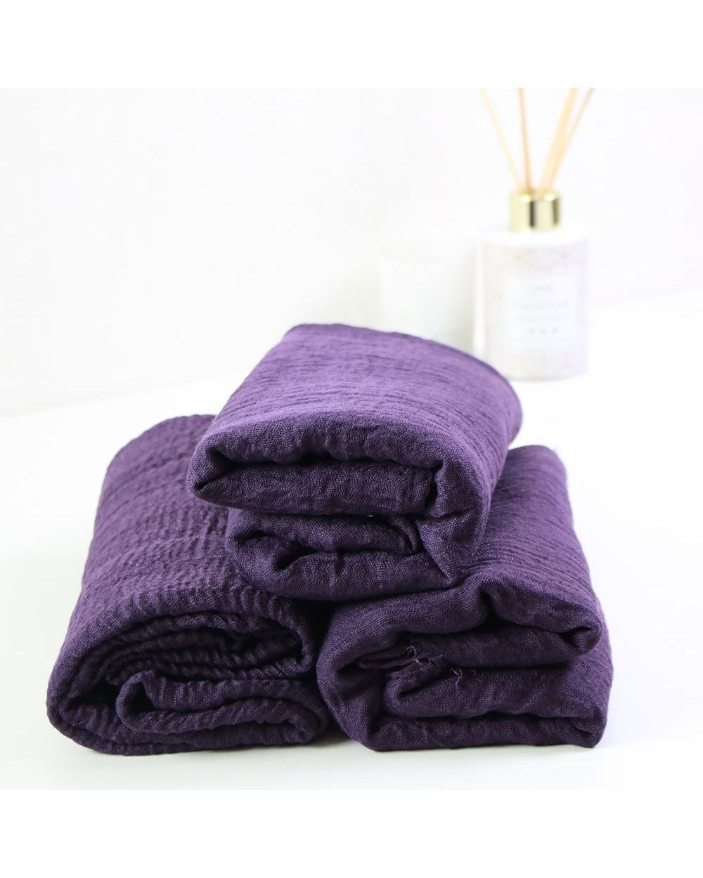 Maxi hijab froissé violet