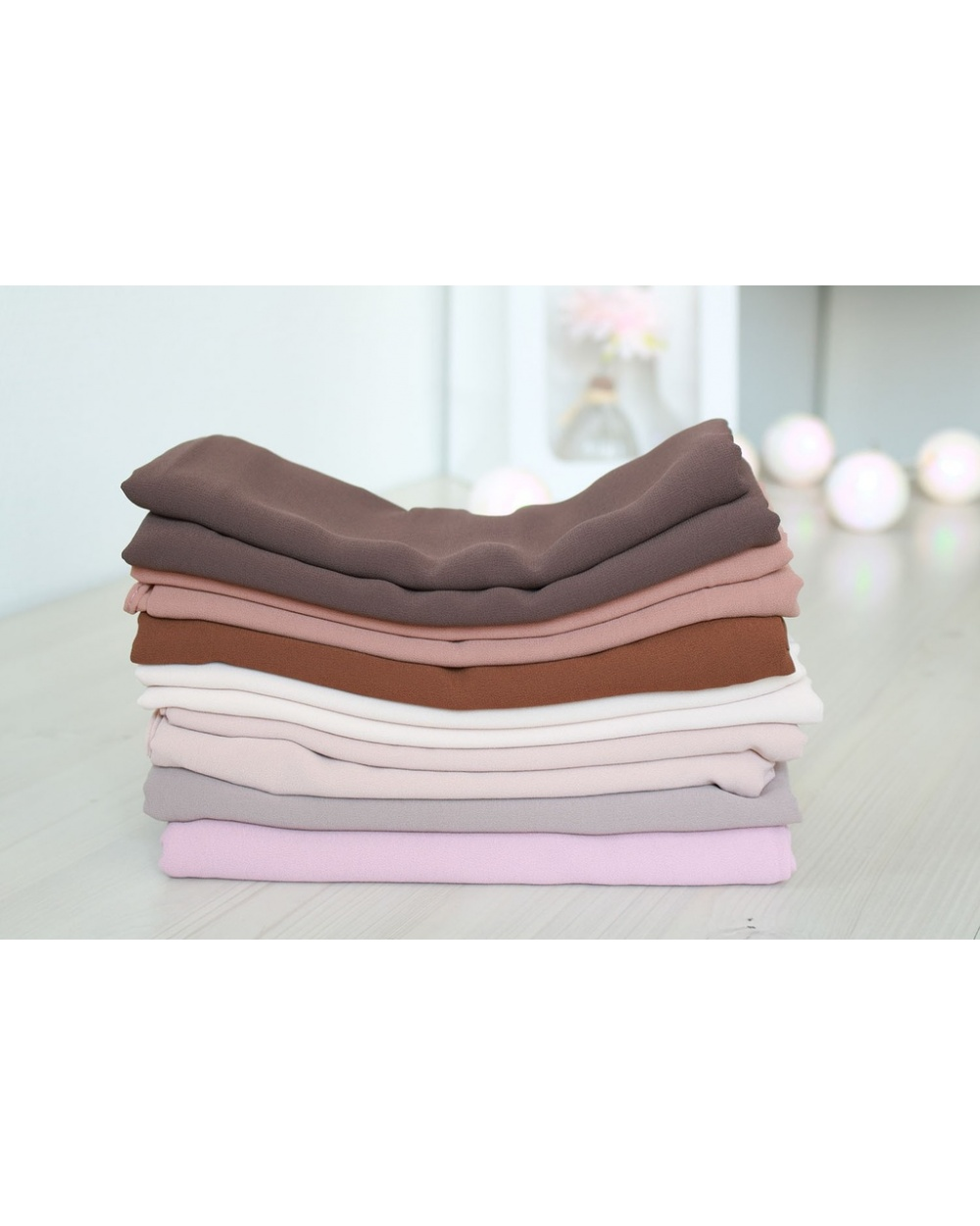 Lot 3 hijabs crêpe mousseline