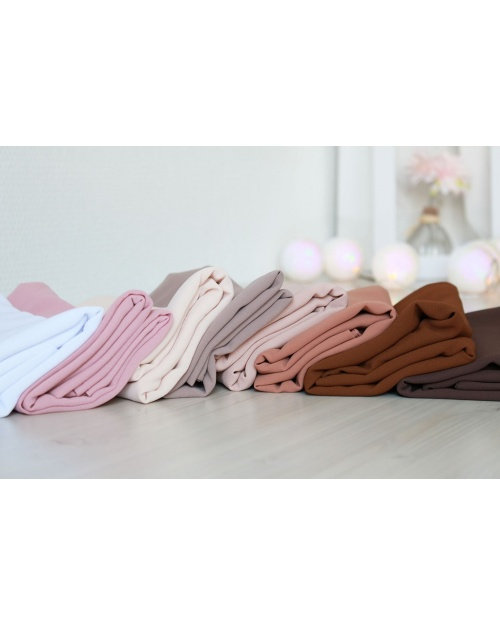 Lot 3 hijabs crêpe mousseline