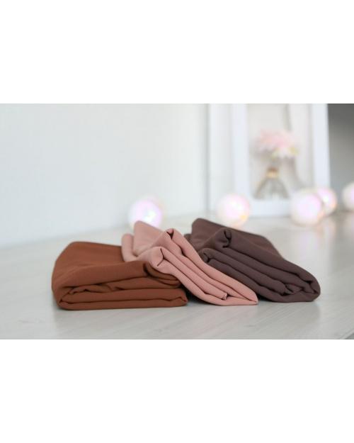 Lot 4 hijabs crêpe mousseline