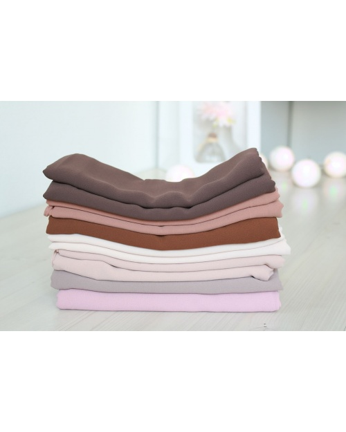 Lot 4 hijabs crêpe mousseline