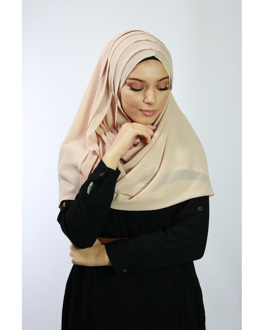 Hijab à enfiler rose