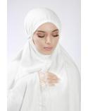 Ensemble de prière 3 pièces uni blanc