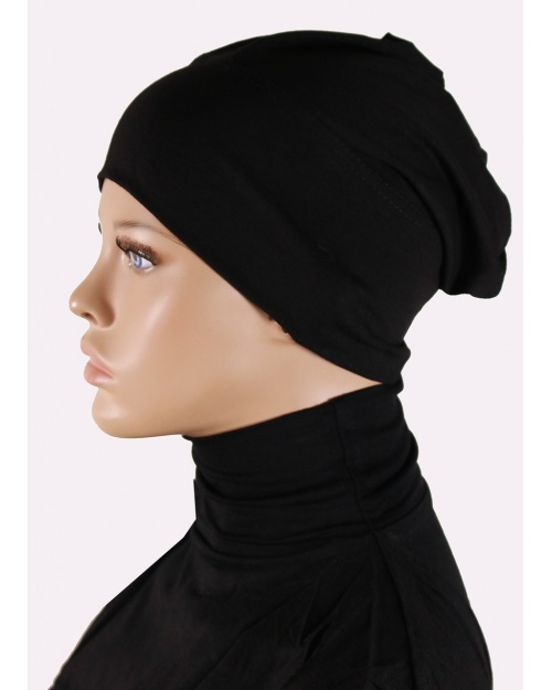 sous hijab bandeau tube noir