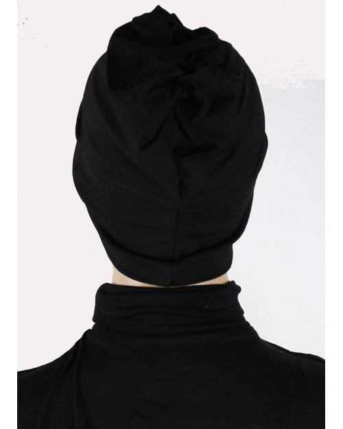 Sous hijab bonnet fermé noir