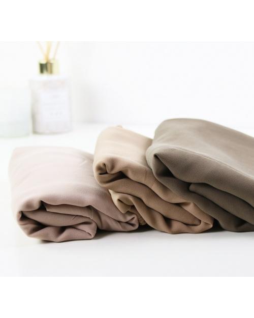 hijab carré mousseline nude