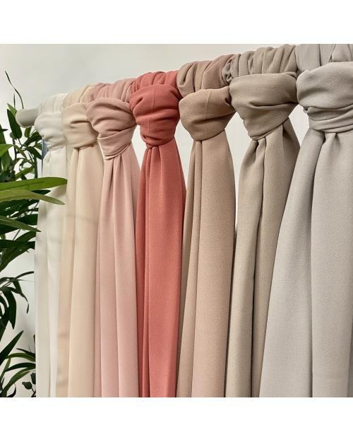 Maxi hijab mousseline de soie opaque 2 mètres