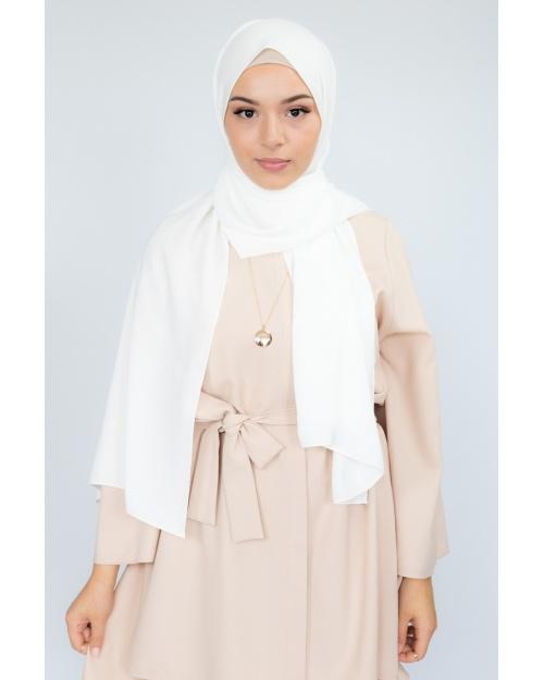 Hijab soie de médine ivoire