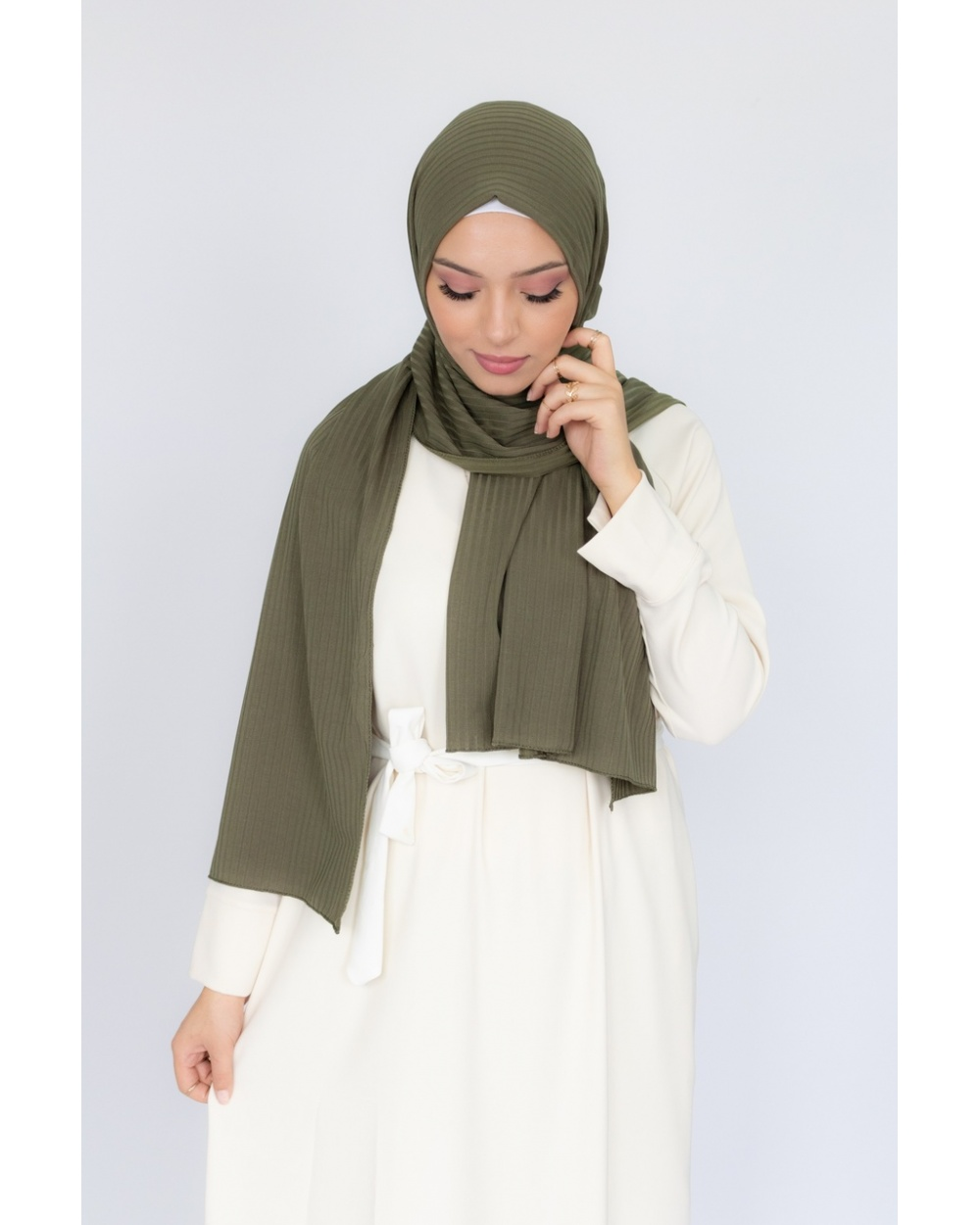 Hijab jersey Côtelé