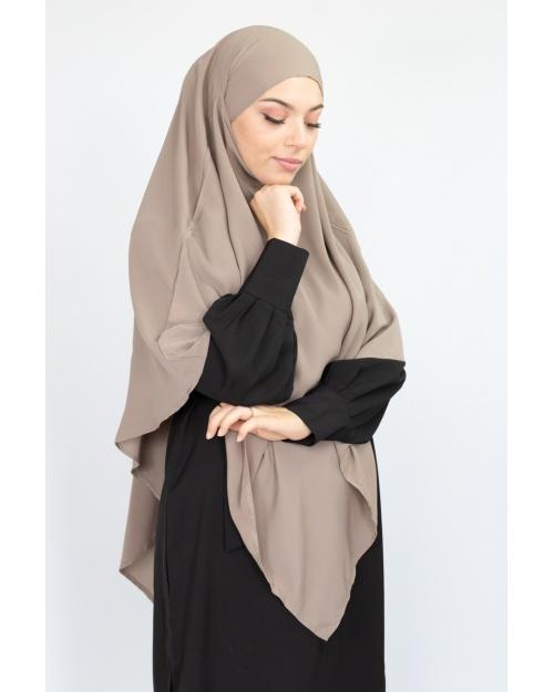 Khimar cape jilbab taupe