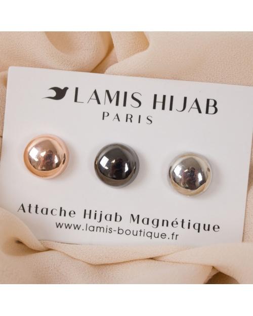 Lot de 3 attaches hijab magnétique double puissance