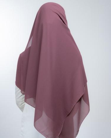 Hijab à enfiler entièrement Mousseline framboise