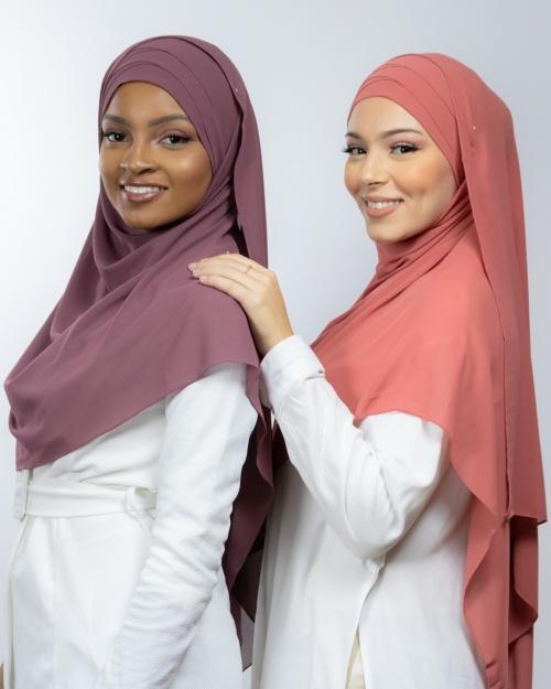 Hijab à enfiler entièrement Mousseline