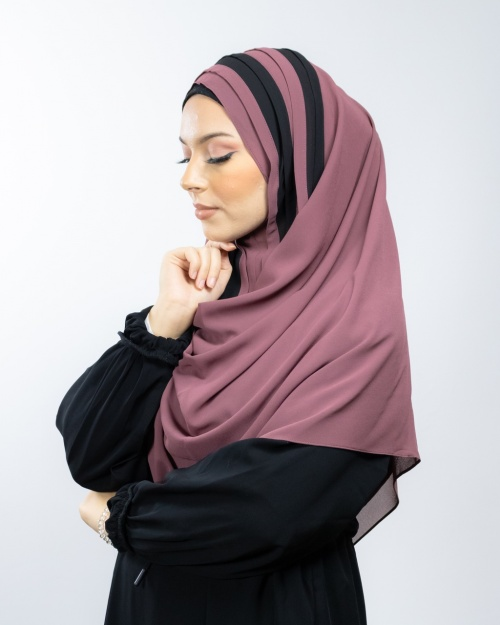 Hijab à enfiler entièrement cousu