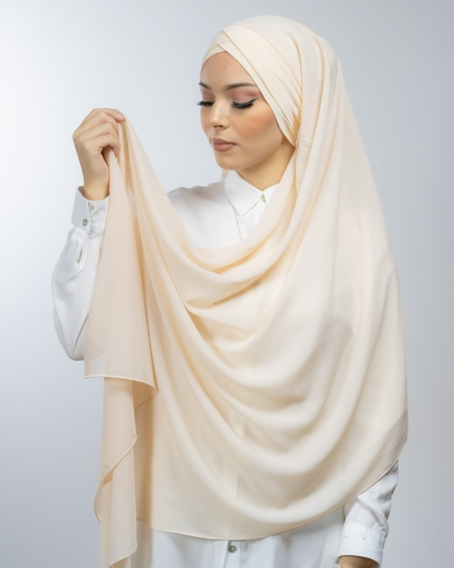 Hijab à enfiler avec bonnet intégré