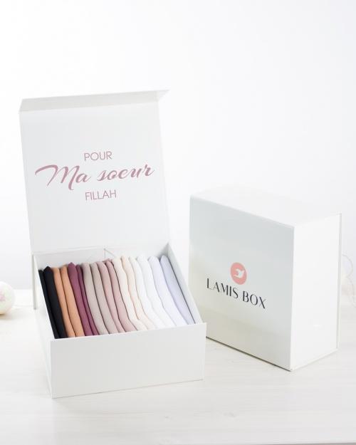 Lamis Box XL - Coffret personnalisé de 8 hijabs