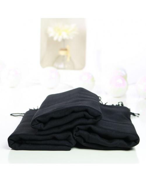 hijab pashmina turque noir
