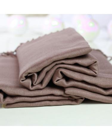 hijab pashmina turque taupe foncé
