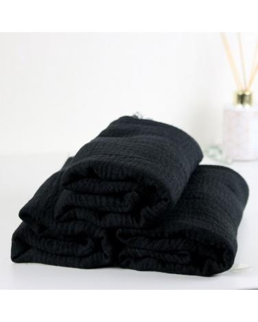 hijab froissé coton noir